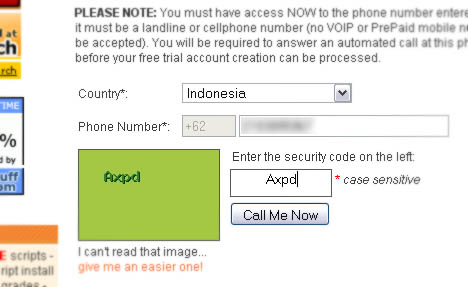 Masukkan nomor telepon
